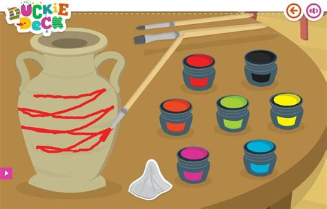 painting agame decoration clay pot at duckie deck duckie deck