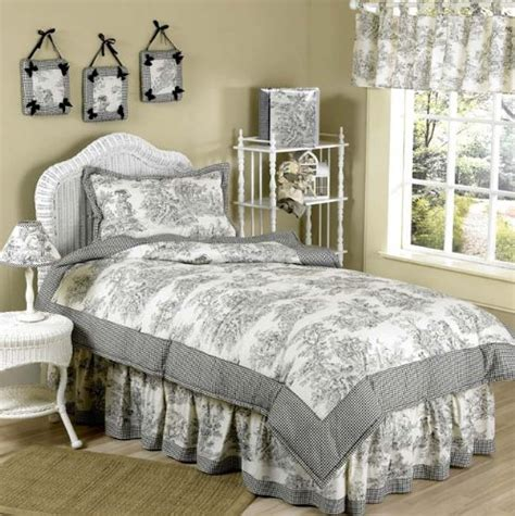 total fab black and white cream toile damask comforters