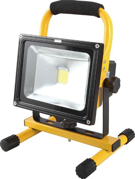 eclairage led rechargeable projecteur de chantier led 20w portable ip44 rechargeable