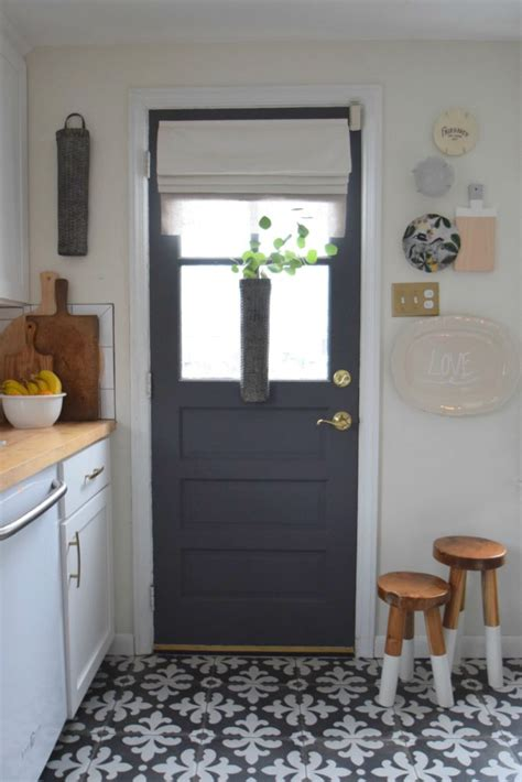 interior kitchen doors gray paint change up on our interior kitchen door
