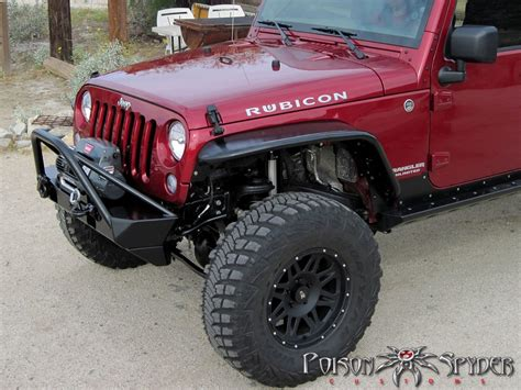 spyder jeep front crusher flares aluminum psc17 03 030 alum poison