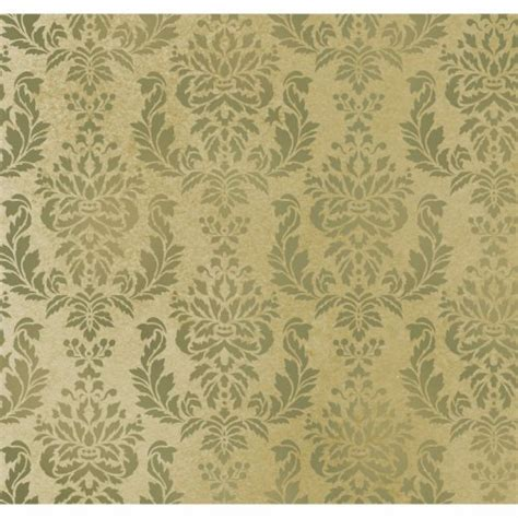 wall pattern wall stencil damask verde allover wall pattern for diy