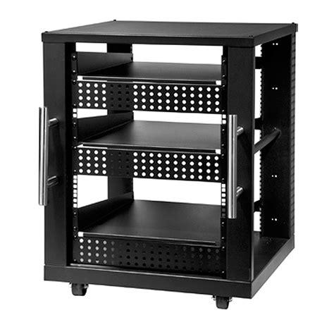 peerless 15u av component rack system black avm