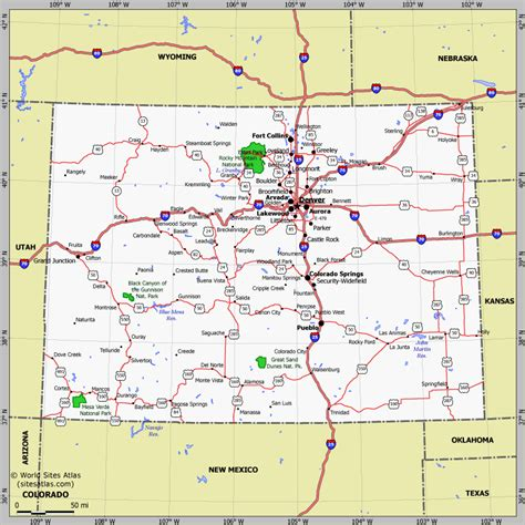 detailed map of colorado usa colorado map