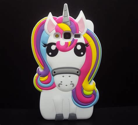 Silicone Pony Unicorn Rainbow Samsung A5 2016 A510 J510 colorful 3d animal samsung soft for samsung