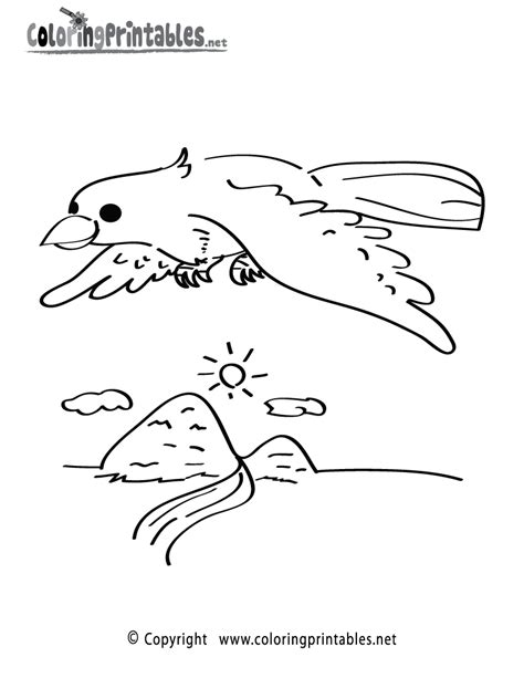 flying bird coloring page a free animal coloring printable