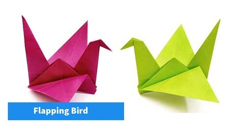 How To Make A Origami Flapping Bird - how to make origami flapping bird easy steps my crafts