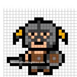 minecraft pixel art templates skyrim dragon born