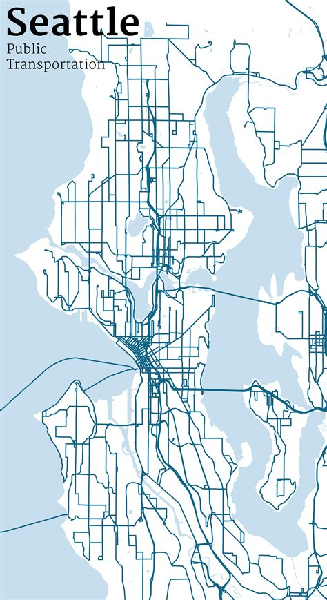 seattle map vector mapping seattle streets jim vallandingham