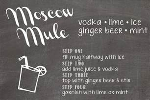 birdberrymad: Moscow Mule Recipe Cards