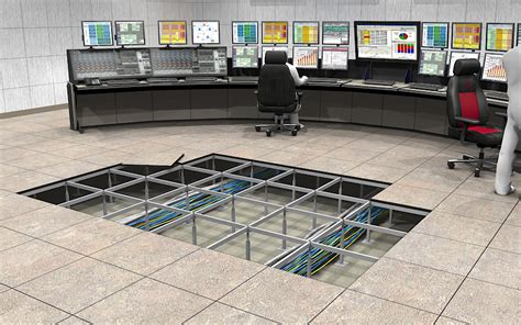 Raising Concrete Floor Height by Raised Access Floor Systems