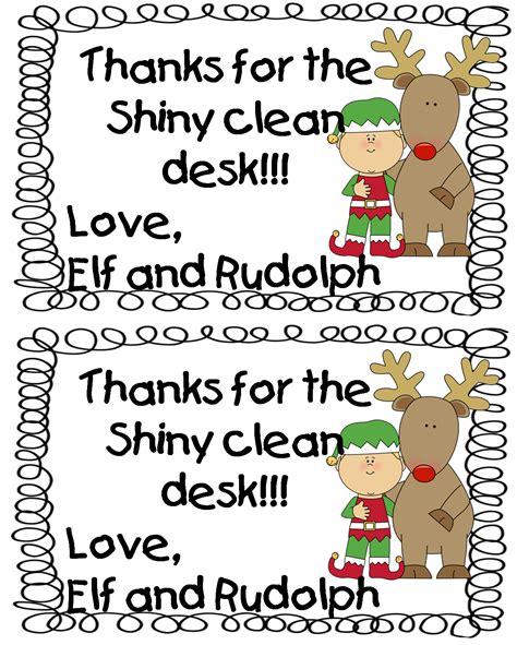 Clean Desk Award by Grade Wow Reindeer