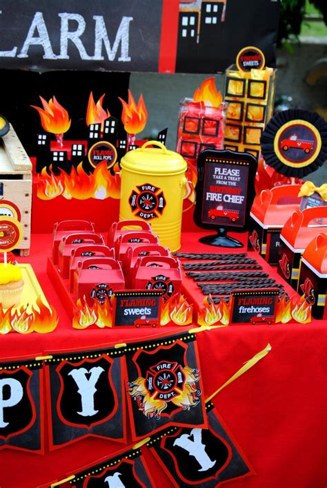 krown themes shopify fireman birthday fire fighter party fire engine