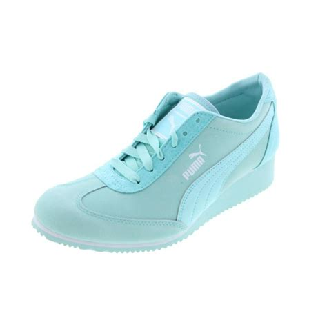 wedge athletic shoes 6835 womens caroline nbk leather wedge sneakers