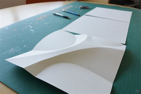 Paper Folding Items - curved paper folding 2