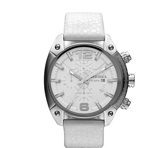 Diesel Dz4315 Overflow Chronograph White White Leather Watc 1 diesel watches overflow s white silver diesel diesel watches dz4315
