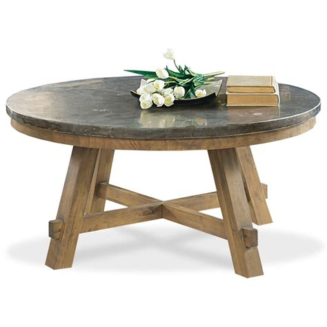 riverside furniture weatherford round cocktail table with