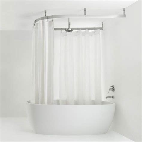Bathroom Shower Curtain Rails Shower Curtain Rail Bathroom Shower Designs