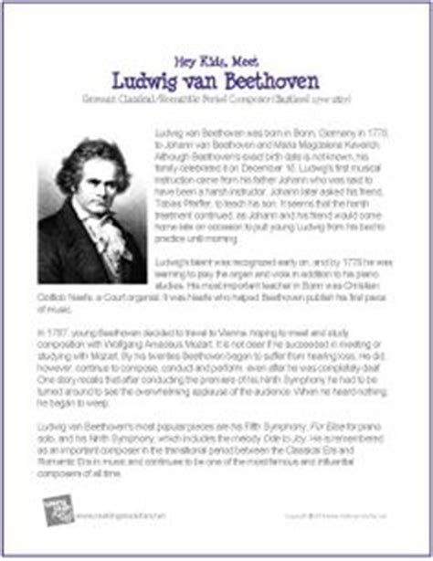 ludwig van beethoven biography timeline ludwig van beethoven printable biography