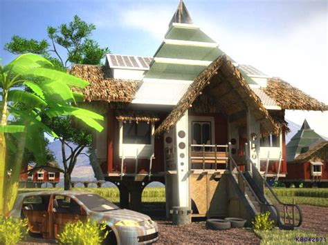 home design ideas native futuristic bahay kubo architecture research center of