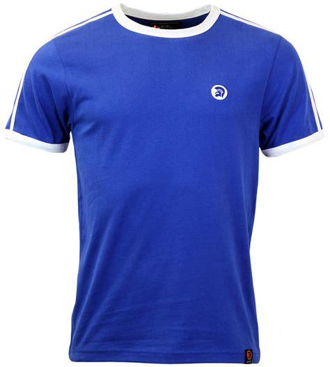 Tshirt Trojan Exclusive trojan records retro stripe t shirt in cobalt