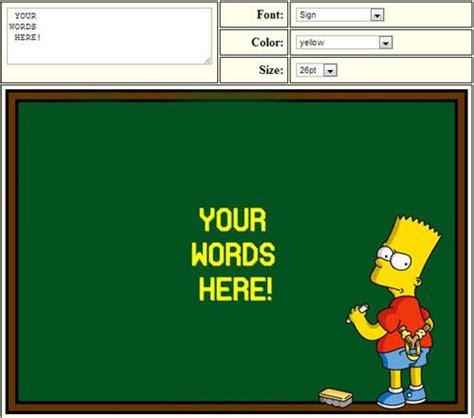 Bart Simpson Meme - bart simpson chalkboard memes