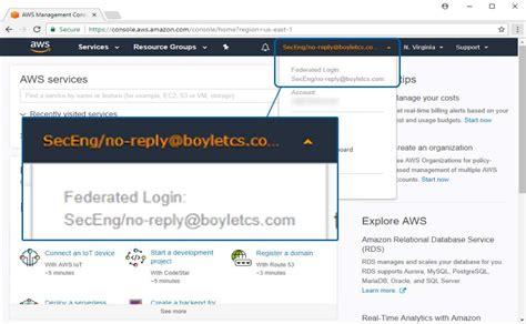 aws console login knowledge repo boyle technical consulting services