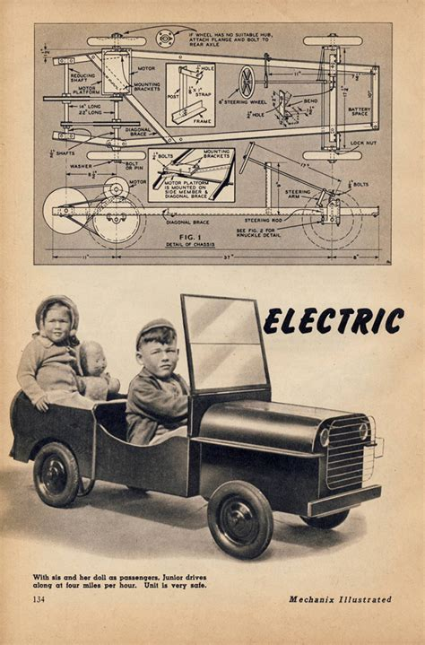 Willys Jeep Plans 1946 Plans For Electric Jeep In Mechanix Ewillys