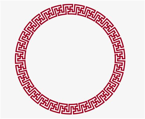 chinese pattern border ai vector circular chinese border png picture round frame