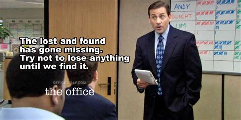 the office quotes the office lost and found officetally