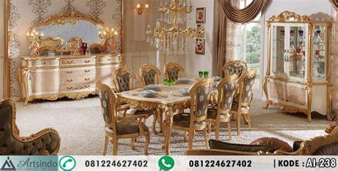 Makan Meja Di Golden Leaf model set meja makan gold ukir desain terbaru klasik eropa elegan arts indo furniture jepara