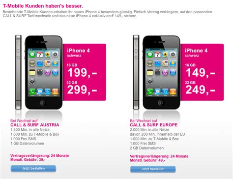 4 iphones t mobile t mobile austria offers iphone 4 to existing customers isource