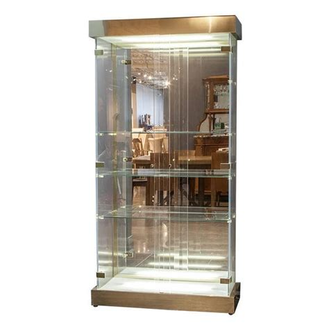 Modern Curio Cabinets by Lucite And Glass Mid Century Modern Curio Cabinet For Sale