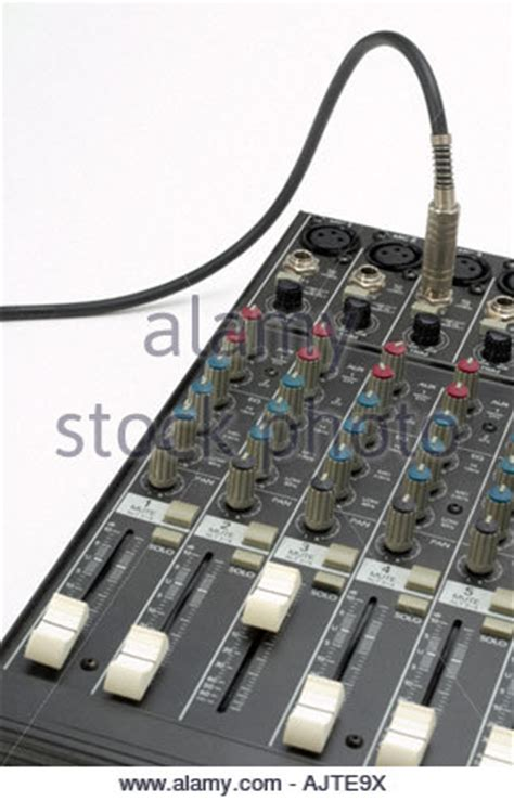 Small Mixing Desk Mic On An Audio Mixing Desk In A Theatre Concert Stock Photo Royalty Free Image 35250886