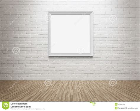 der bilderrahmen leerer bilderrahmen an der wand lizenzfreies stockbild