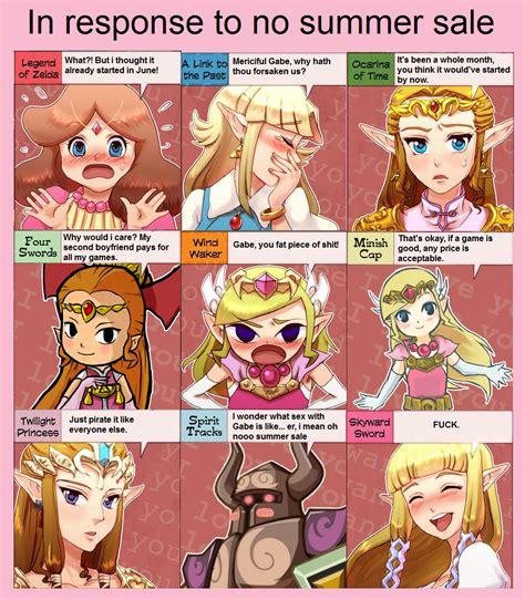 Zelda Reaction Meme - no steam summer sale zelda s reaction know your meme
