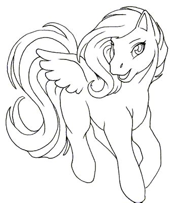 my little pony friendship is magic coloring pages baby