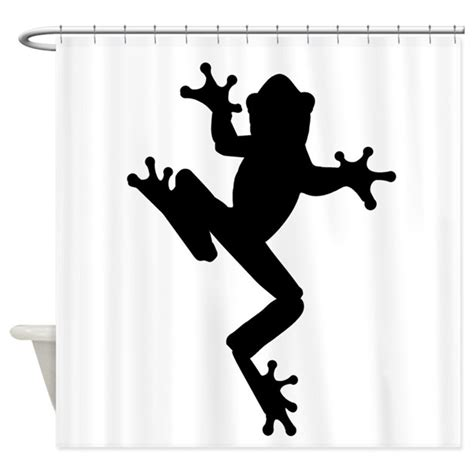 curtain silhouette frog silhouette shower curtain by silhouetteanimals