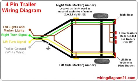 trailer light wiring diagram 4 pin 7 pin house