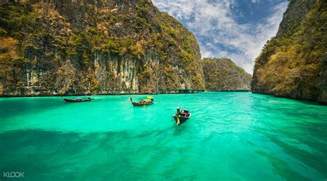 complete guide to the phi phi islands in thailand krabi to phi phi island day tour by speedboat klook