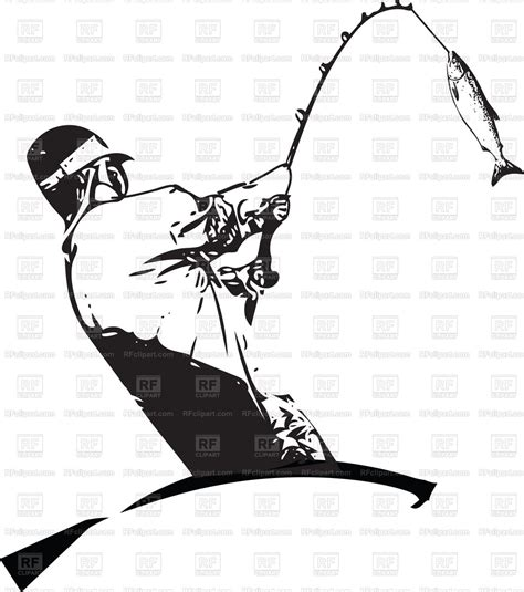 fishing boat clipart illustrations illustration of man fishing from the boat vector image