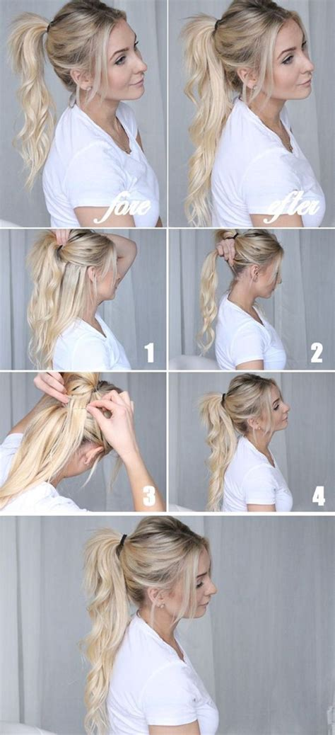 easy hairstyles for long straight hair step by step 40 easy step by step hairstyles for girls