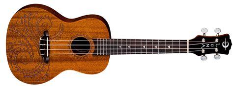 uke tattoo mahogany concert w gigbag luna guitars