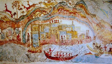Greek Wall Murals file ship procession fresco part 1 akrotiri greece jpg