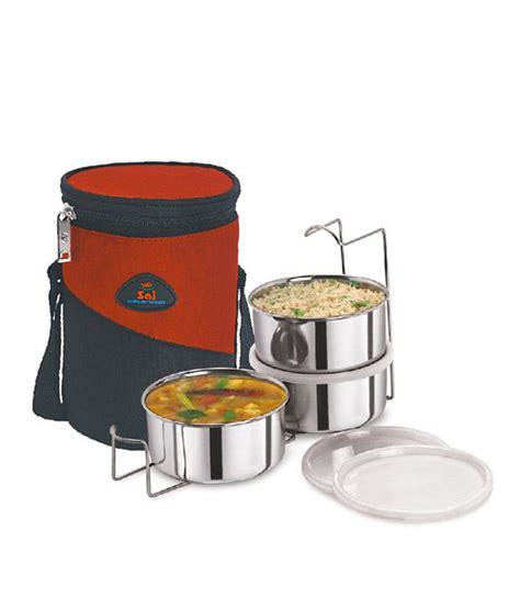 Lunch Set Homio sai home appliances 3 pieces lunch set buy at best price in india snapdeal