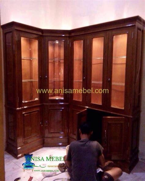 Lemari Hias Palembang lemari hias jati aleysia minimalis terbaru anisa mebel jati