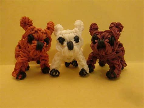 Charm Korea Anjing Bulldog rainbow loom bulldog puppy or charm 3 d doovi