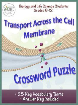 cell transport crossword osmosis diffusion nursing