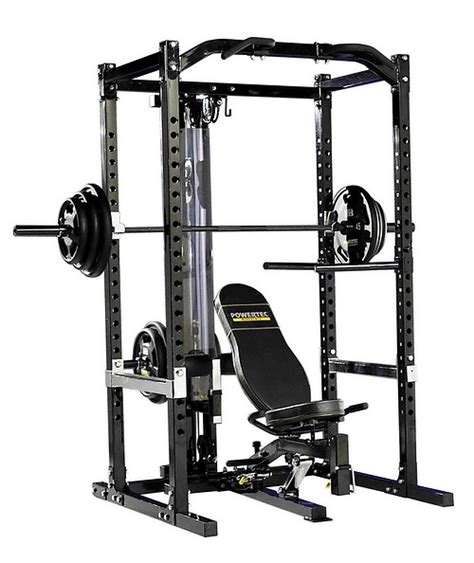 Powertec Power Rack With Lat Tower by Power Rack System With Lat Tower Powertec The Bench