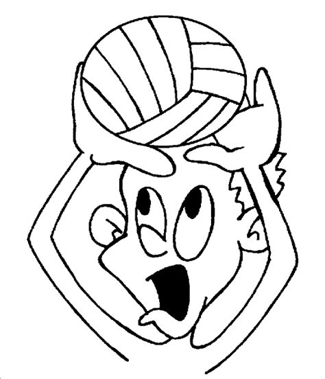 cartoon volleyball coloring page cartoon volleyball pictures clipart best